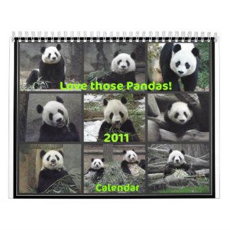 Houd van Die Panda's! 2011 Kalender