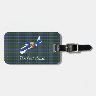 Houd van het geruite Schotse wollen stof van het Kofferlabel