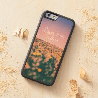 Houd van het leven levend u esdoorn iPhone 6 bumper case