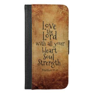 """""""Houd van Lord"""" Heilige Schrift Matthew 22, iPhone 6/6s Plus Portemonnee Hoesje"""