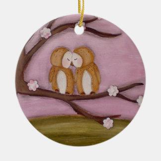 Houd van me altijd sieren rond keramisch ornament