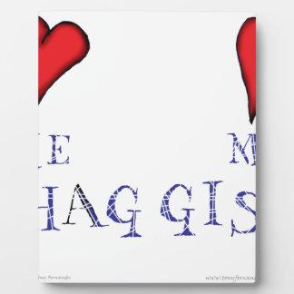 houd van me liefde mijn haggis fotoplaat