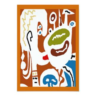 Houd van Mijn Groene Thee, Kubisme 12,7x17,8 Uitnodiging Kaart