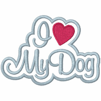 Houd van Mijn Hond Geborduurde Dames Hoodie Met Rits