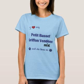 Houd van Mijn Petit Basset Mengeling van Griffon T Shirt