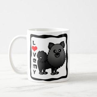 Houd van Mijn Pomeranian - Zwarte Koffiemok