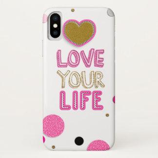 Houd van Uw Leven iPhone X Hoesje