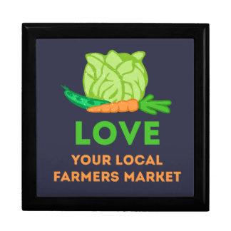 Houd van Uw Lokale Markt van Landbouwers Decoratiedoosje