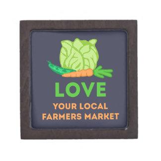Houd van Uw Lokale Markt van Landbouwers Premium Bewaar Doosje