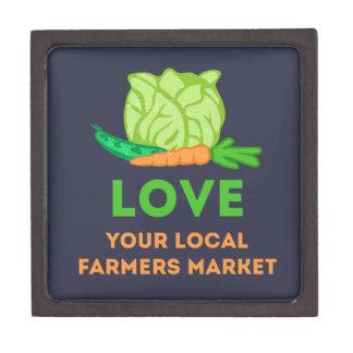 Houd van Uw Lokale Markt van Landbouwers Premium Decoratie Doosje