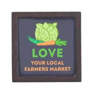 Houd van Uw Lokale Markt van Landbouwers Premium Decoratiedoosje