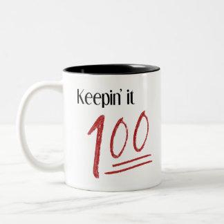 Houdend het Mok 100