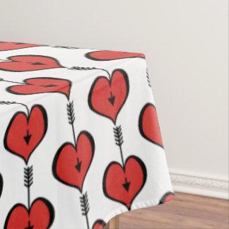 Houdend van u Katoenen van het Hart rood Tafelkleed