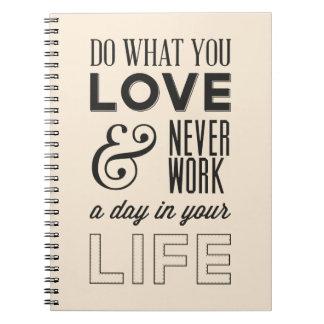 Houding, Successs, het Werk, het Motivatie Citaat Notitieboek