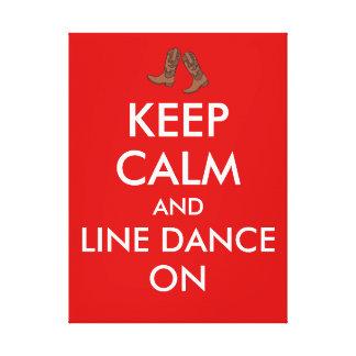 Houdt de Dansende Gift van de lijn de Kalme Gallerij Wrap Canvas