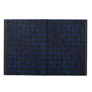 HOUNDSTOOTH1 ZWARTE MARMEREN & BLAUWE GRUNGE iPad AIR HOESJE