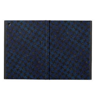 HOUNDSTOOTH2 ZWARTE MARMEREN & BLAUWE GRUNGE iPad AIR HOESJE