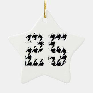 Houndstooth Nummer 25 Keramisch Ster Ornament