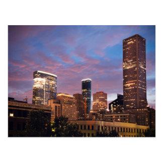 Houston bij Nacht Briefkaart