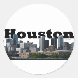 Houston, Horizon TX met Houston in de Hemel Ronde Sticker