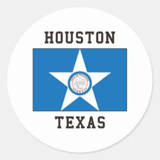 Houston Texas Ronde Sticker