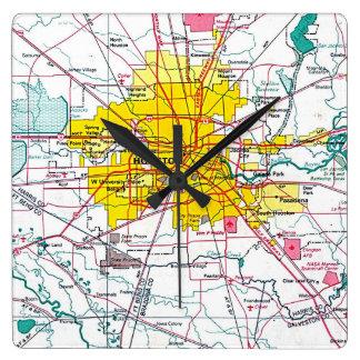 Houston Vierkante Klok
