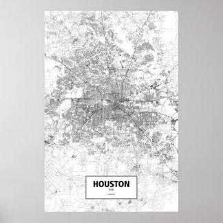 Houston, zwart Texas (op wit) Poster