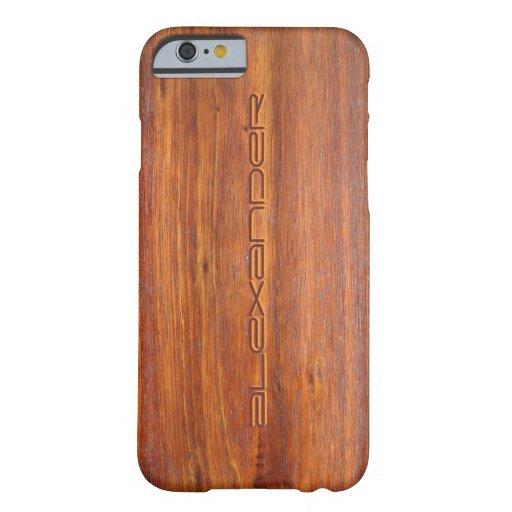 Hout Aangepaste iPhone 6 gevaldekking Barely There iPhone 6 Hoesje
