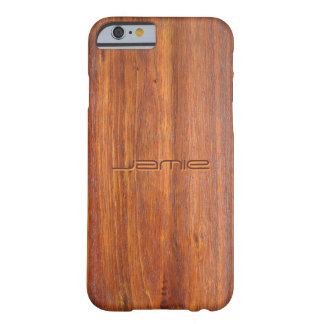 Hout Aangepaste iPhone 6 gevaldekking Barely There iPhone 6 Case