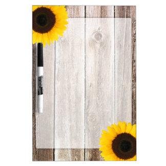 Hout van de Schuur van de zonnebloem het Rustieke Whiteboard