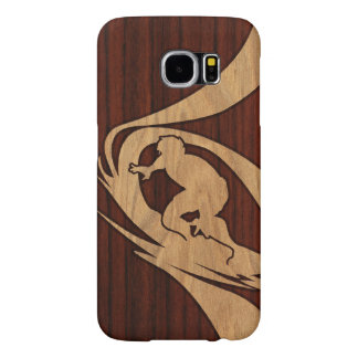 Hout van Surfer Faux van Kewalos het Hawaiiaanse Samsung Galaxy S6 Hoesje