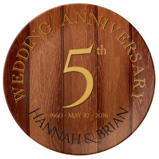 Houten 5de het porseleinbord van het Jubileum van Porseleinen Bord