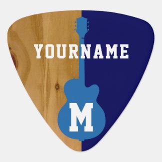 houten/blauwe gepersonaliseerd koel gitaar plectrums 0