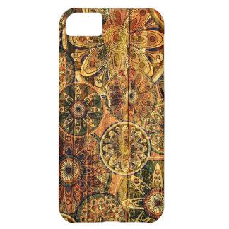 houten bloemen abstract vectorart. iPhone 5C case