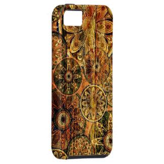 houten bloemen abstract vectorart. iPhone 5 hoesje