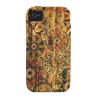 houten bloemen abstract vectorart. vibe iPhone 4 case