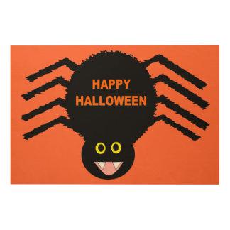 Houten Canvas van de Spin van Halloween het Zwarte