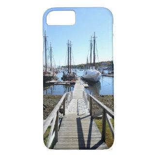 houten dok door een haven iPhone 7 hoesje