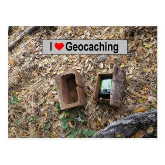 Houten dooshuid: Geocaching Briefkaart