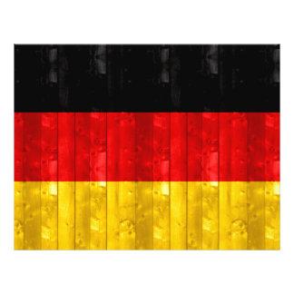 Houten Duitse Vlag Fullcolor Folder