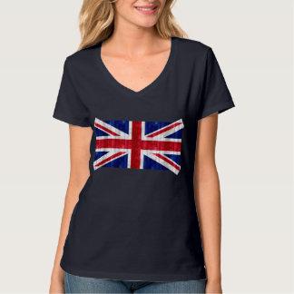 Houten Engelse Vlag T Shirt