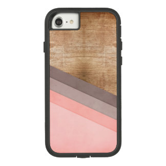 Houten geometrisch art. Case-Mate tough extreme iPhone 8/7 hoesje