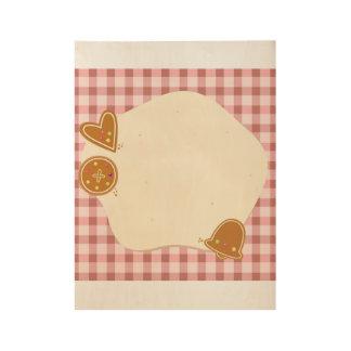 Houten poster voor Kind: baksel thema