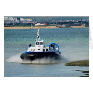 Hovercraft die in Ryde aankomen Wenskaart