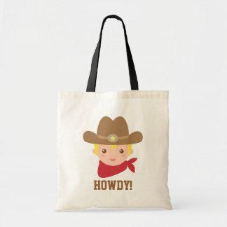 Howdy, Leuke Cowboy voor kleine jongens Draagtas