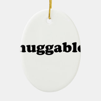 Huggables in Zwarte Keramisch Ovaal Ornament