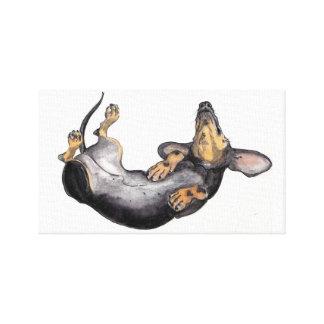 Hugo het art. van de het canvasmuur van de tekkels canvas print