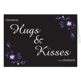 hugs&kisses voor mijn echtgenoot wenskaart