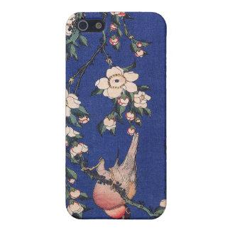 Huilende Kers en Goudvink, Hokusai iPhone 5 Covers