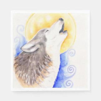 Huilende Wolf Papieren Servetten